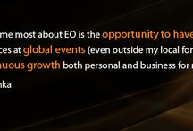 EO New Delhi /  (www.eonetwork.org) is a dynamic, global network of more than 8,000 business owners in 40 countries. Founded in 1987 by a group of young entrepreneurs, EO is the catalyst that enables entrepreneurs to learn and grow from each other, leading to greater business success and an enriched personal life. Membership in one of EO's 120 chapters is by invitation only; the average member is 41 years old with annual revenues of $17.3 million.
