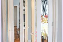 closet doors/organization
