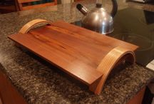 serving woods tray
