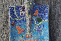 mozaiek  tuin gereedschap