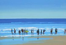 """John Morris (Irlanda). Peisagist impresionist / """"Picturile mele sunt despre lumină si efectele ei asupra apei, figurilor, peisajului""""  Știe să capteze lumina sclipitoare in continua schimbare si atmosfera."""