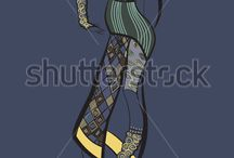 Decorative Fashion Illustration