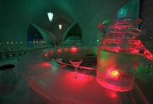 icy places & spaces / ice bars, ice hotels, big ice sculpture exhibits, and other crazy ice spaces and places