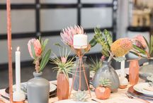 WEDDING: COPPER TABLE / wedding copper succulent and geometric theme