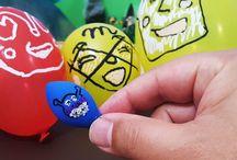 風船遊び!お絵かき!しぼんだバイキンマン❤アンパンマン アニメ&おもちゃ