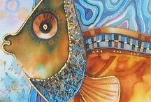 Malované hedvábí - painted silk
