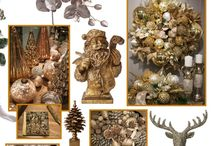 Christmas Shine / Metallics, always a reliable holiday alternative, are trending with GOLD and newer more imaginative hues. / by J Schwanke