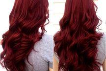 Color de cabello rojo