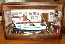 Barco de Pesca com acessórios