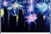 Výtvarná výchova - oslava nového roku