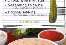 Salad dressing recipes