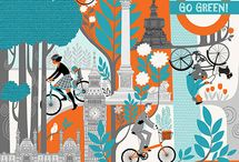 Graphics/bikes / A board for nice bicycle-related graphic design