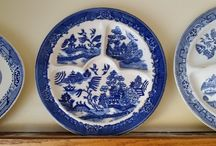 Blue Willow / Blue Willow, white and blue china