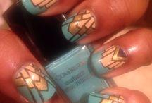 Nail art art-deco