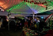 New years festival setup