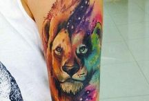 idee tatouage lion