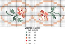 Cross stitch patterns - Borders, bread cloth(s) and frames