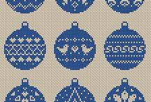 punto croce natalizi
