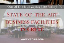 Conferences and Meetings / Organise your next corporate event, international conference or team building event in Crete at the Out of the Blue, Capsis Elite Resort near Heraklion. A team of experts with a great knowledge of international and European events is on hand to help tailor your event to your every need.
