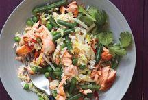 Salmons fried rice