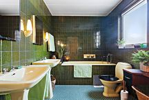 Grönt badrum 60-tal