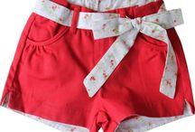 shorts/ saias  infantil
