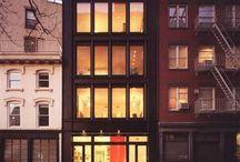 townhouse facades