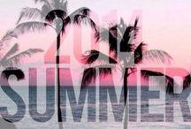 Summer / Summer, beach, tanning, love, colours, drinks