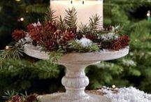 Рождественские украшения для стола