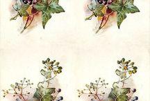 decoupage obrazki kwiaty