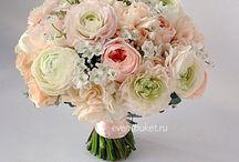 Букет невесты: персиковый, кораллов, кремовый, пудра / Цветы, флористика