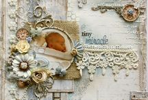 Shabby Chic Beauty / So many beautiful shabby chic creations from cards to layouts to altered art.