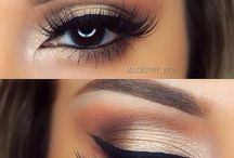 Makeup brunette brown eyes