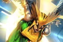 HawkGirl and man