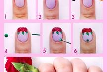 nail róże