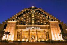 Raffles Dubai / Inspired by the great pyramids of Egypt, Raffles Dubai is a stunning landmark in Dubai's skyline...
