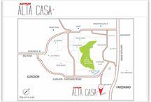 astrum alta casa location map faridabad
