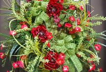 wreaths and flowers