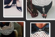 Stripes and strass / Haut col claudine Kookai, jean skinny Replay, escarpins Louboutins, sac Michael Kors