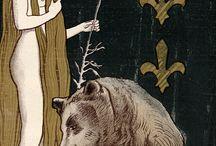 Femme fatale en fin de siècle et Art Nouveau