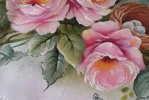 Pintura rosas