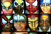 face painting superhero