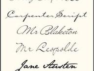 Fonty v štýle rukopisu