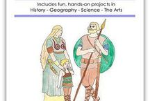 Unit 2-2: Barbarians, Ireland, Forecasting, Illumination / Unit 2-2 covers the Barbarians, a coutry study of Ireland, Weather forecasting, and the art of medieval illumination, with hands-on learning in a Layers of Learning homeschool.