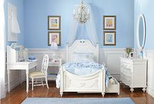 Lily's Princess Room / I like this color of blue for the walls in her room.