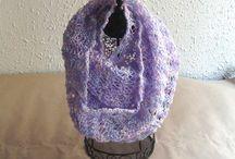 Cuellos / bufandas de punto tejidos a mano / Cuellos que también se pueden usar como foulard o bufanda tejidos a mano