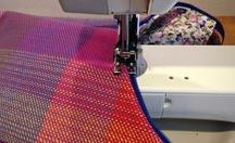 sewing a handwoven fabric