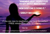 Hypnosis & Meditation Quotes & Tips / Quotes and tips all about meditation and hypnosis.