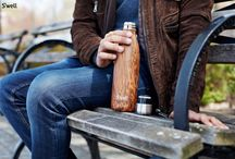 Wood Collection / The WOOD COLLECTION includes Teakwood, Burlwood, Beach Cottage, Cabana, Birchwood & Clubhouse, available in all 3 sizes (9oz, 17oz, 25oz). Get inspired by Mother Nature with our Wood Collection, featured in a smooth matte finish.  Each bottle is one-of-a-kind and perfectly unique. For every Wood Collection bottle sold, on your behalf S'well will plant a tree. / by S'well Bottle