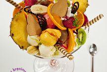 Desery Lodowe / Wyśmienite desery lodowe. Kombinacja lodów, owoców, bitej śmietany oraz słodkich dodatków. Sam wybierasz co i w jakich proporcjach. Dla niezdecydowanych mamy propozycje w menu